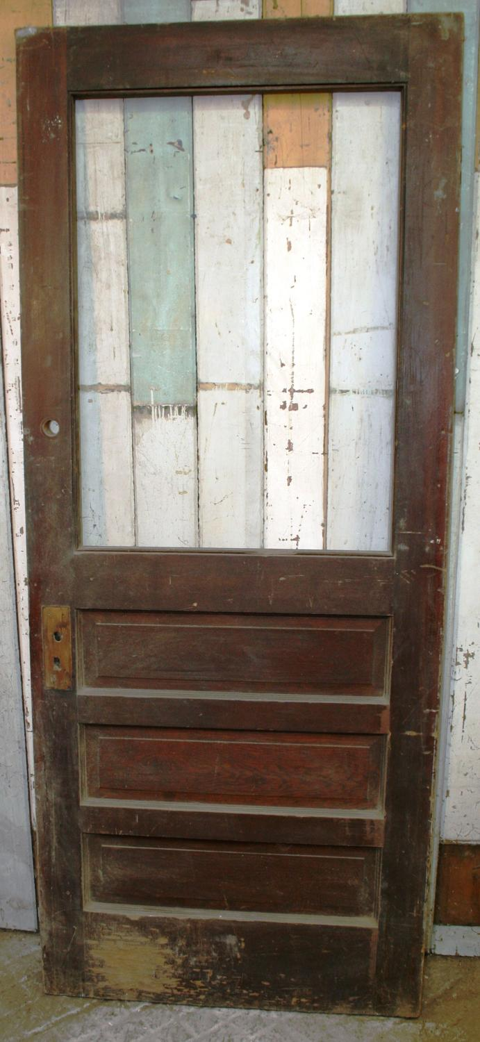 DB0286 An Edwardian Art Deco Pine Door for Internal or External Use