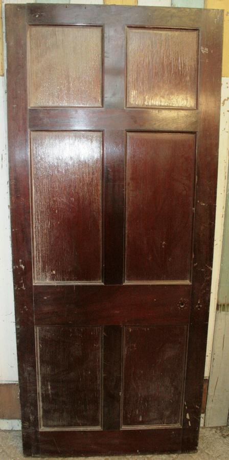 DB0288 An Edwardian 6 Panel Mahogany Door
