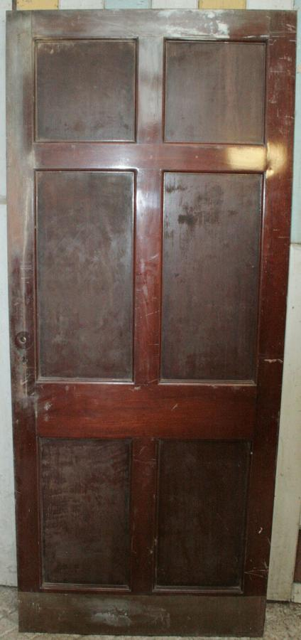 DB0289 An Edwardian 6 Panel Mahogany Door