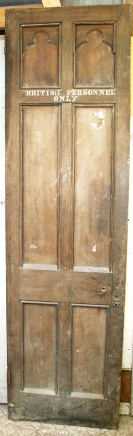 DB0296 A Very Tall, Unusual Victorian Gothic Oak Door.
