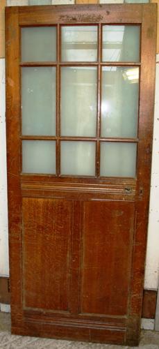 DB0310 An Edwardian Oak Glazed Door in Very Good Condition