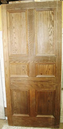 DB0594 An Early Edwardian 6 Panel Oak Door