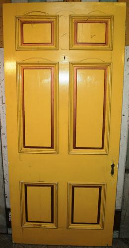 DB0647 A Large, Handsome 6 Panel Door with Lovely Details