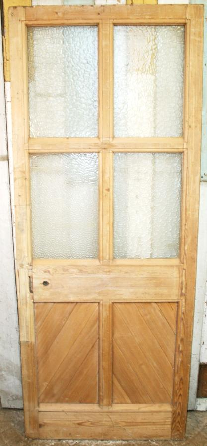 DB0648 A Victorian Pine Glazed Door  for Internal/External use