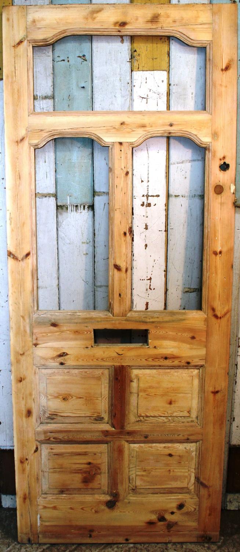 DE0492 A Lovely Victorian Pine Front Door for Glazing