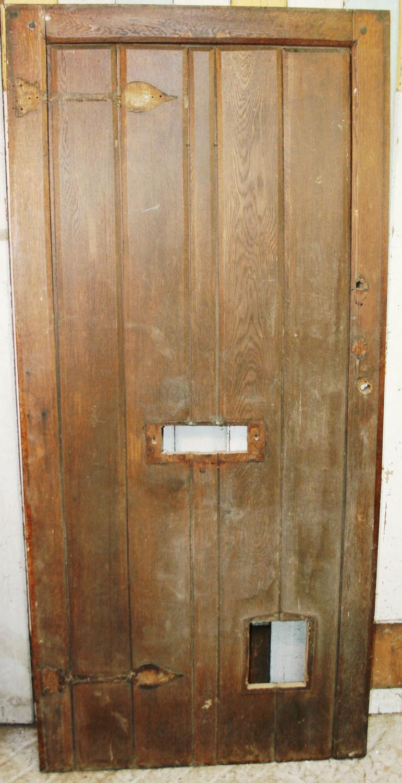 DE0659 An Arts & Crafts Oak Cottage Front Door