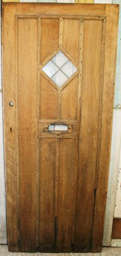 DE0775 A Solid Oak, Cottage Style Door in Late Arts & Crafts Style
