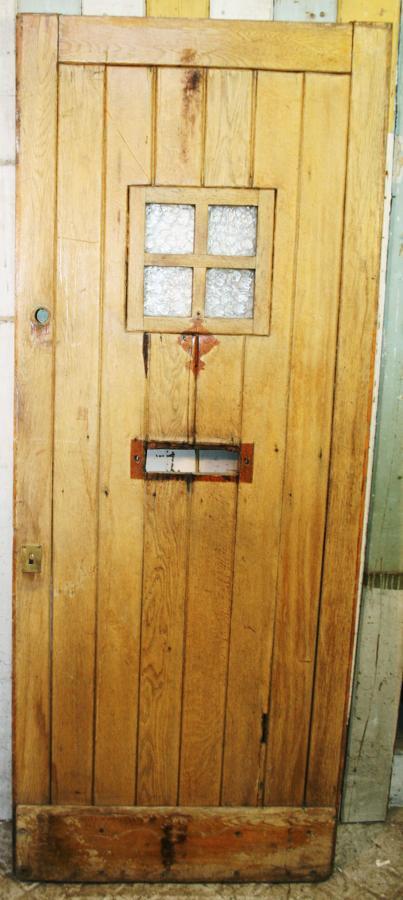DE0776 A Solid Oak Arts & Crafts Cottage Style Front Door