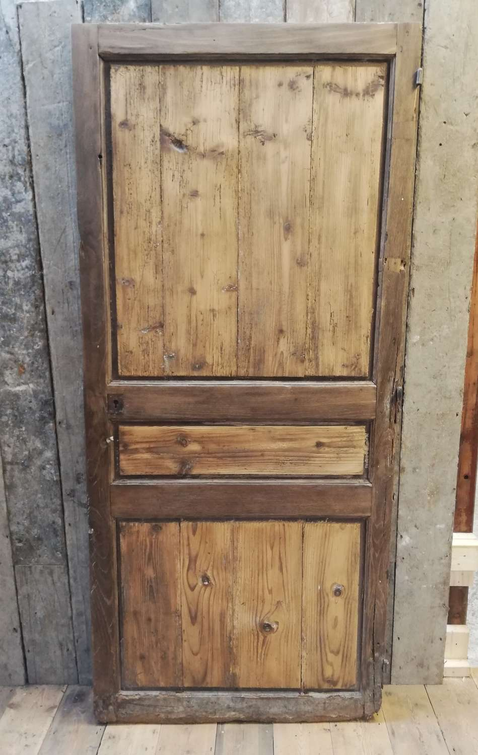 DI0422 A Very Old Oak French Door for Internal Use