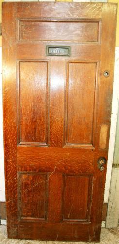 DI0450 An Edwardian 5 Panel, Oak Veneered Door for Internal Use