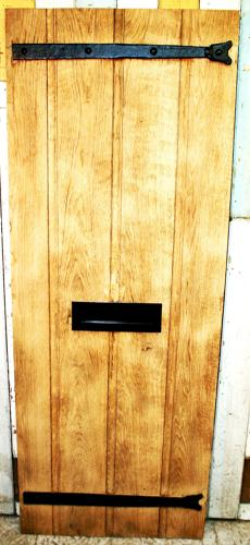 DE0778 A Solid Oak, Ledged and Planked Cottage Door