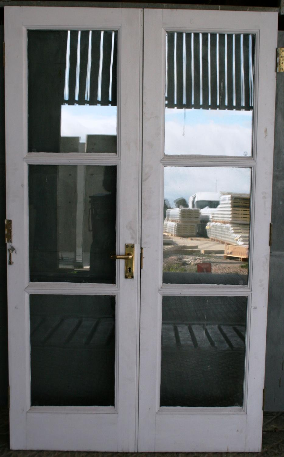 DP0250 A Pair of Modern, Joinery-Made, Glazed French Doors