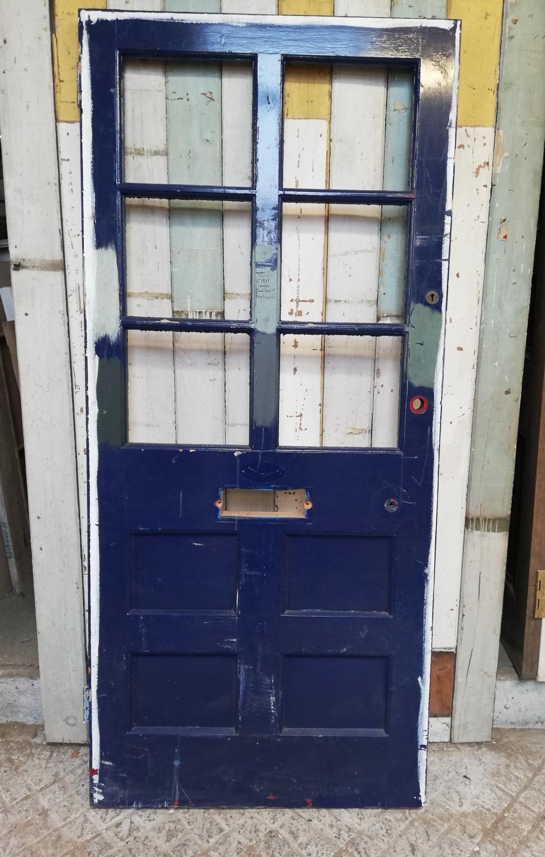 DE0779 ATTRACTIVE PAINTED PINE VICTORIAN FRONT DOOR