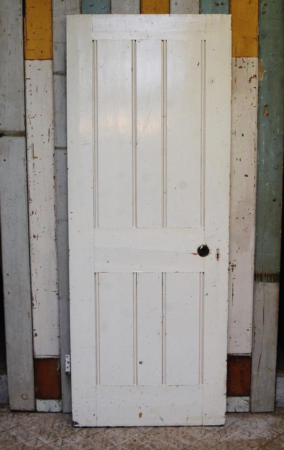 DB0651 VICTORIAN PAINTED PINE INTERNAL / EXTERNAL DOOR
