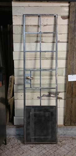 1128 A FANTASTIC INDUSTRIAL RECLAIMED CRITTALL DOOR FOR CUPBOARD