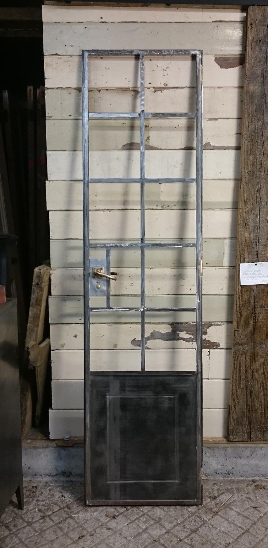 1128 A FANTASTIC INDUSTRIAL RECLAIMED CRITTALL DOOR FOR CUPBOARD