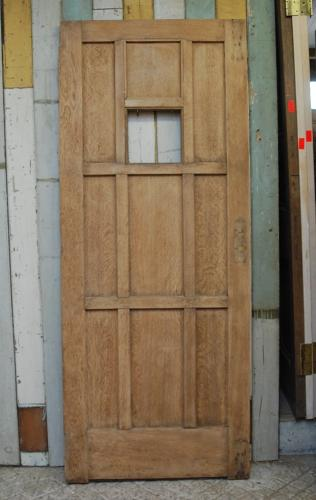 DE0782 ANTIQUE OAK COTTAGE DOOR LATE ARTS AND CRAFTS PERIOD