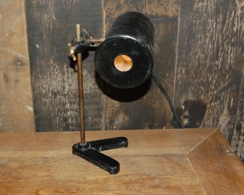 M1200 ANTIQUE RECLAIMED INDUSTRIAL DOCTORS DESK LAMP