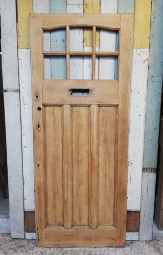 DE0773 ARTS AND CRAFTS EDWARDIAN OAK FRONT DOOR