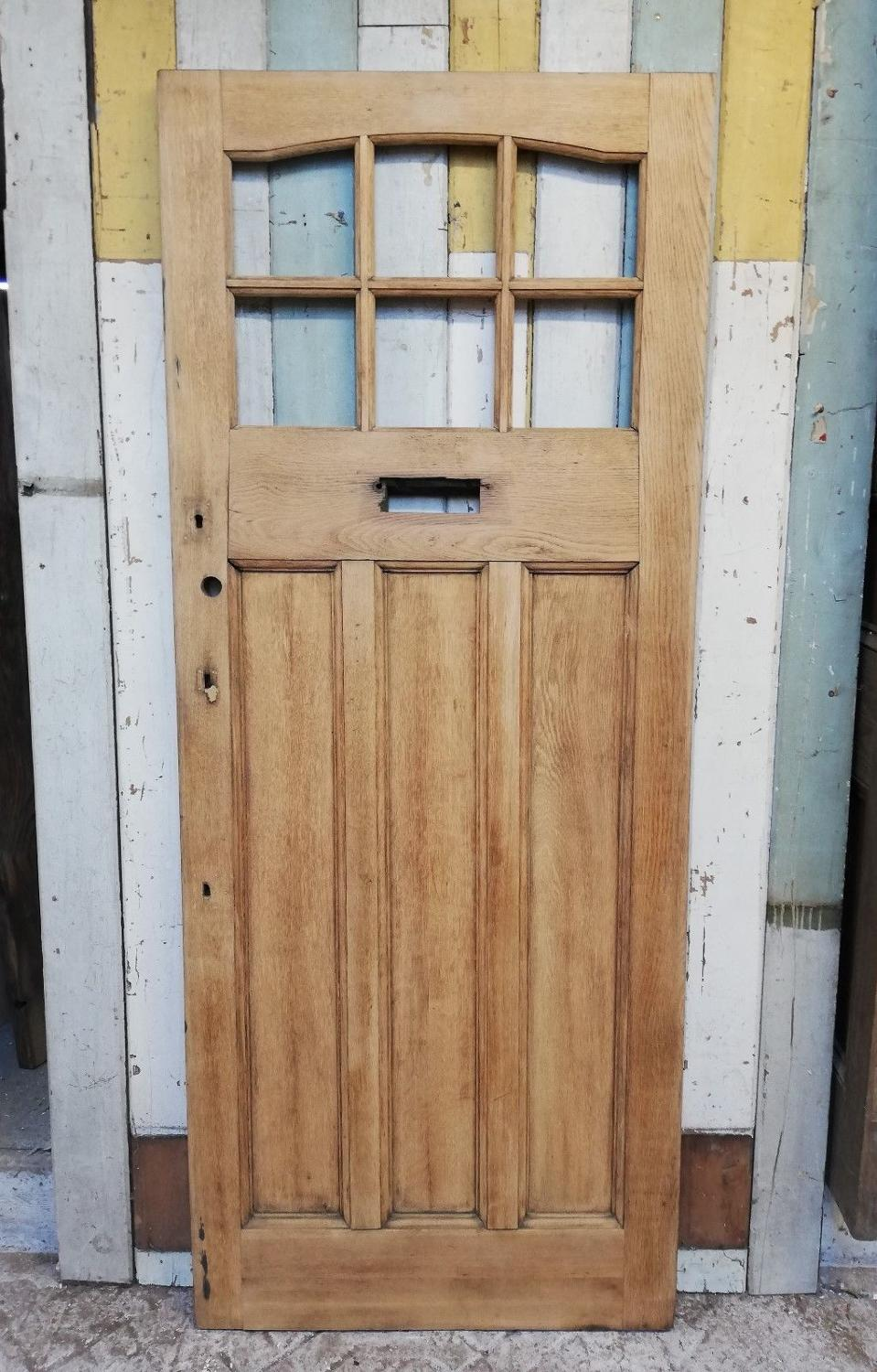 DE0773 ARTS AND CRAFTS EDWARDIAN OAK FRONT DOOR