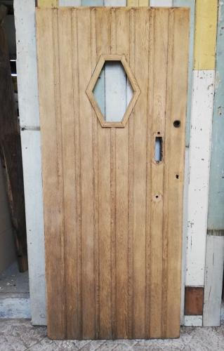 DE0772 ARTS AND CRAFTS OAK FRONT DOOR READY FOR GLAZING