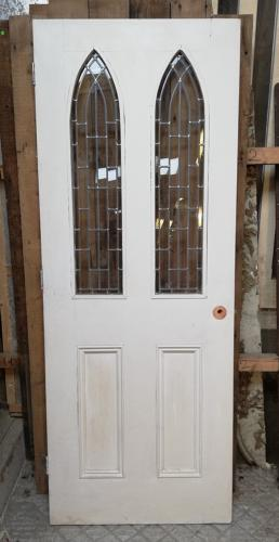 DI0657 ATTRACTIVE INTERNAL DOOR WITH GOTHIC GLAZED PANELS