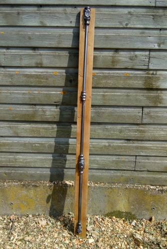 M1188 A RESTORED ANTIQUE VICTORIAN CAST IRON ESPAGNOLETTE BOLT