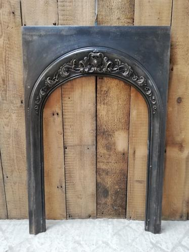FT0008 A RECLAIMED ANTIQUE CAST IRON FIRE TRIM FOR WOOD BURNER