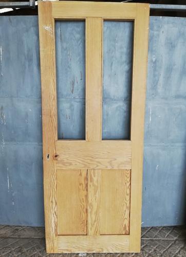 DI0659 A RECLAIMED VICTORIAN FOUR PANEL PINE INTERNAL DOOR