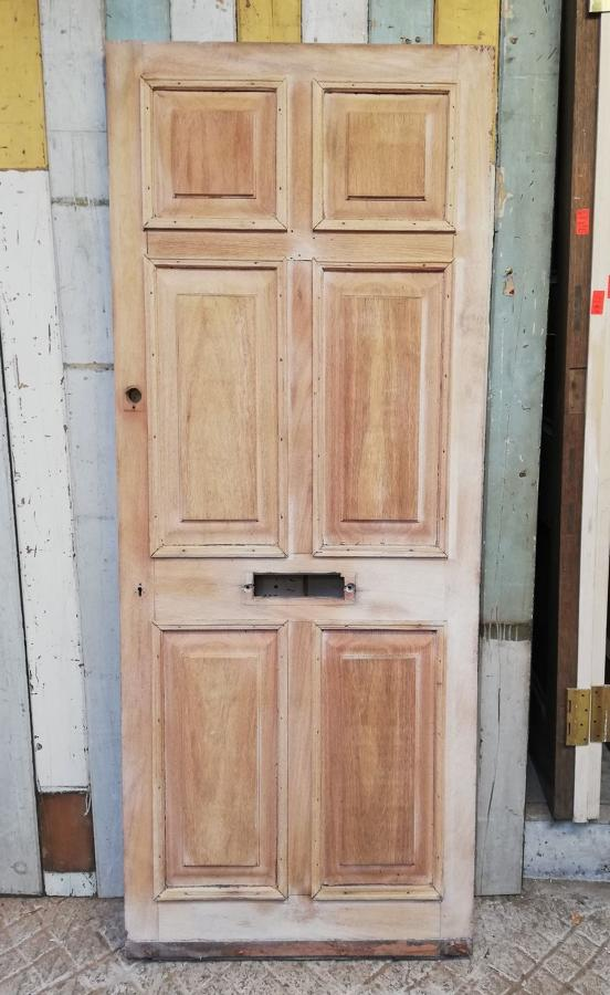 DE0786 A HEAVY RECLAIMED HARDWOOD EXTERNAL FRONT DOOR