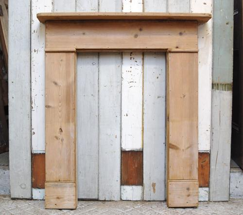 FS0051 A RECLAIMED RUSTIC STRIPPED PINE FIRE SURROUND