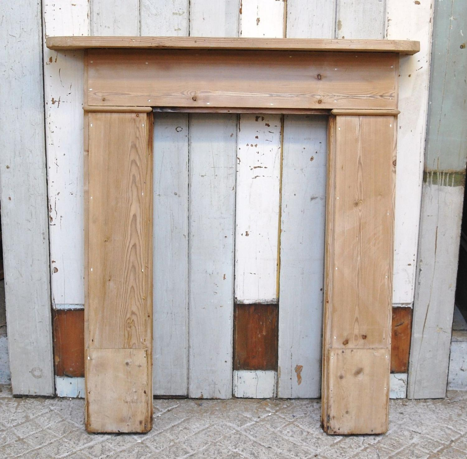 FS0052 A RECLAIMED RUSTIC STRIPPED PINE FIRE SURROUND