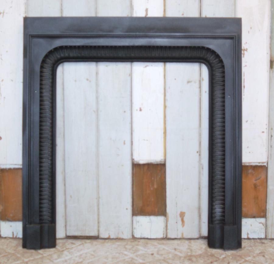FT0009 GEORGIAN CAST IRON FIRE TRIM FOR WOOD BURNER / BASKET