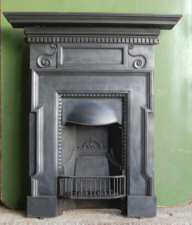 FC0042 AN ATTRACTIVE ANTIQUE CAST IRON COMBINATION FIRE C.1900