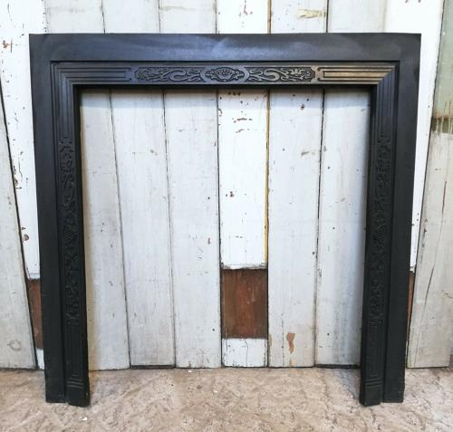 FT0010 ATTRACTIVE CAST IRON FIRE TRIM FOR WOOD BURNER OR BASKET