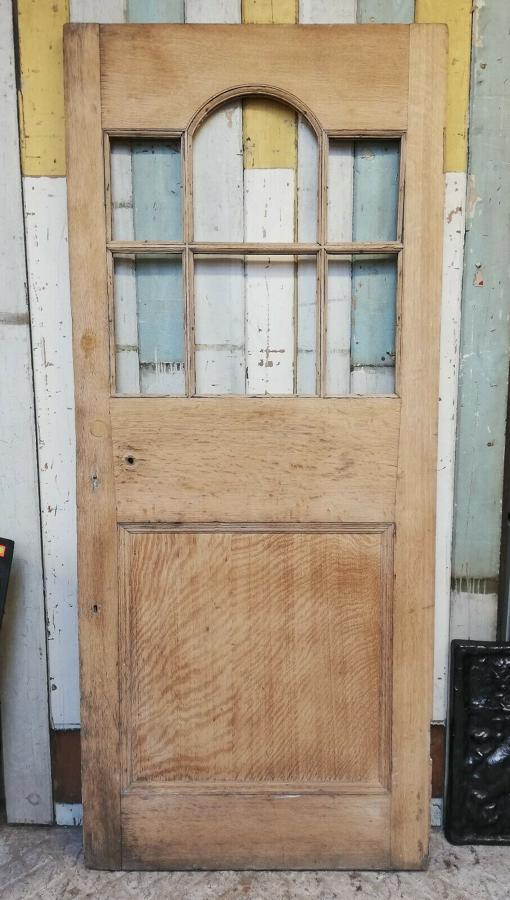 DB0652 RECLAIMED SOLID OAK DOOR INTERNAL OR EXTERNAL