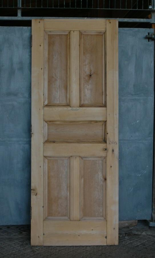 DI0672 A RECLAIMED STRIPPED PINE EDWARDIAN INTERNAL DOOR