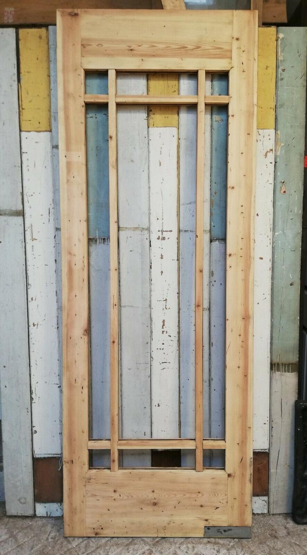 DI0674 A FANTASTIC TALL ART DECO PINE INTERNAL DOOR FOR GLAZING