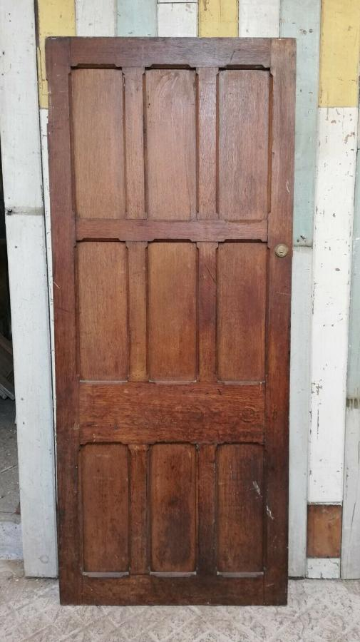 DB0656 LARGE RECLAIMED OAK EXTERNAL / INTERNAL PANELED DOOR