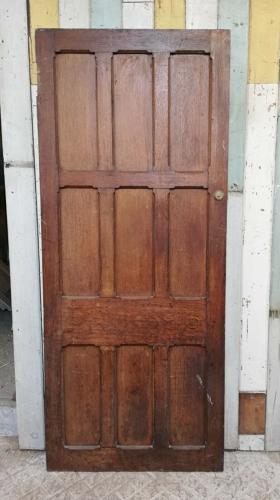 DB0656 LARGE RECLAIMED OAK EXTERNAL / INTERNAL PANELED DOOR