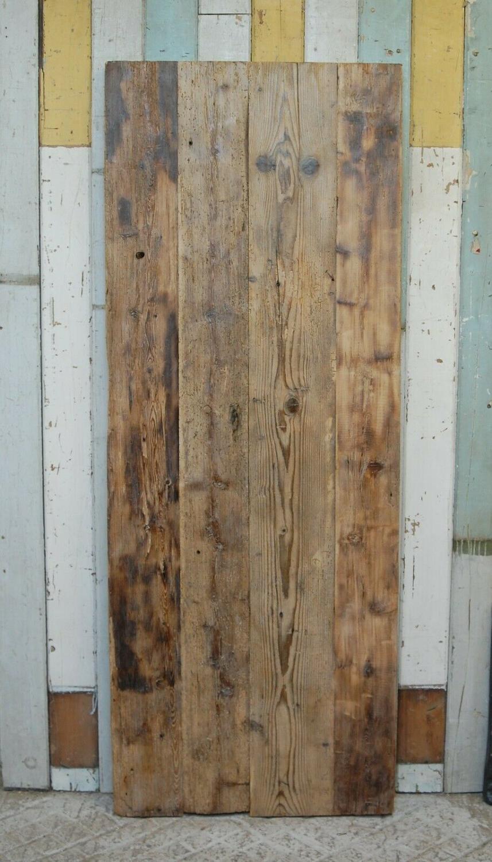 DI0677 RUSTIC OLD PINE PLANK DOOR / POSSIBLE SLIDING DOOR