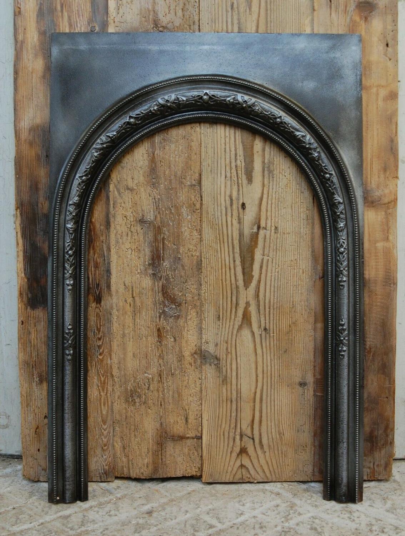 FT0012 ANTIQUE VICTORIAN CAST IRON TRIM FOR WOOD BURNER / LOG BURNER