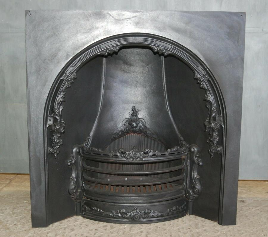 FI0029 RECLAIMED GEORGIAN REPLICA CAST IRON HORSESHOE FIRE INSERT