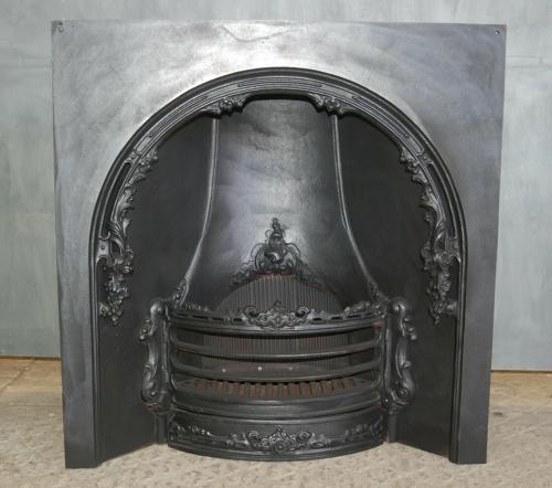 FI0029 RECLAIMED GEORGIAN REPLICA CAST IRON HORSESHOE FIRE INSERT