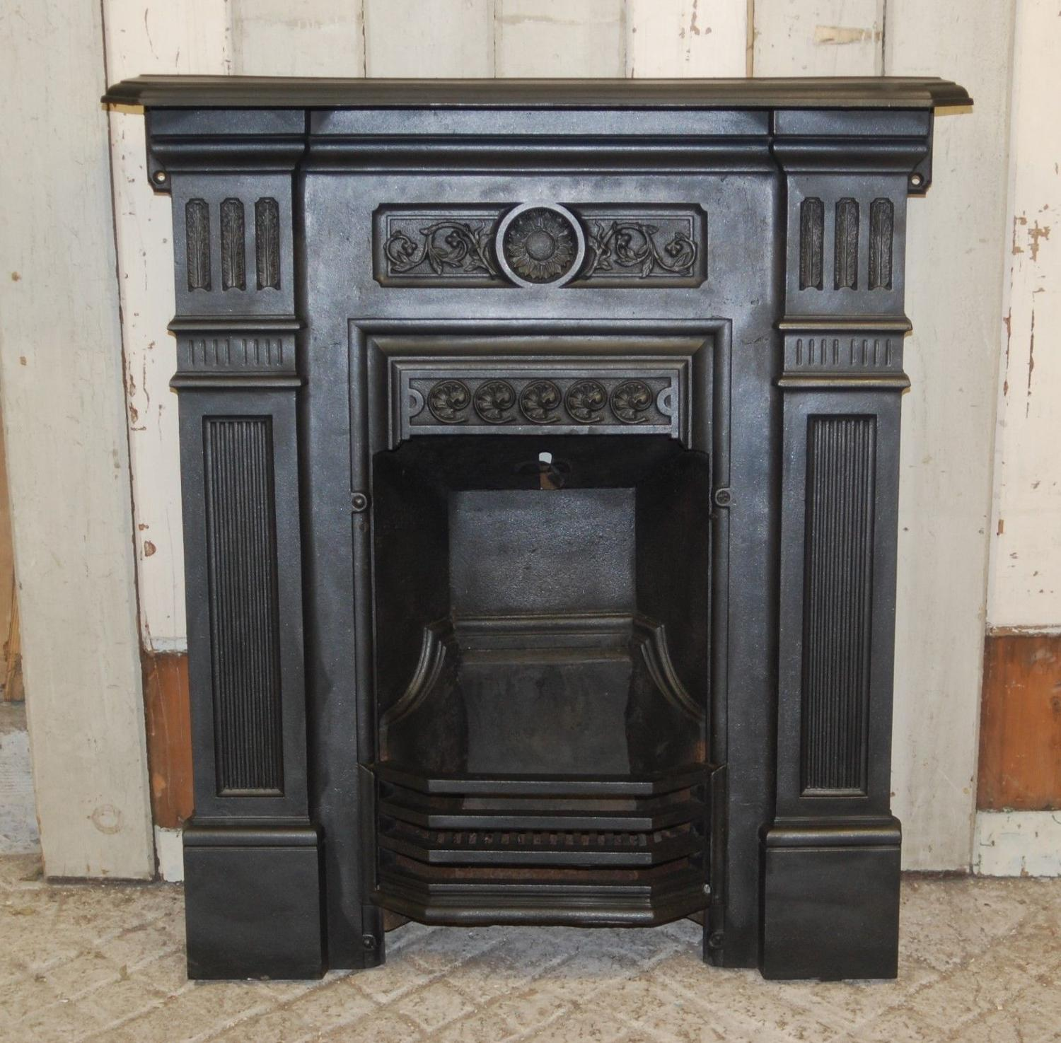 FC0031 ATTRACTIVE LATE VICTORIAN CAST IRON COMBINATION FIRE