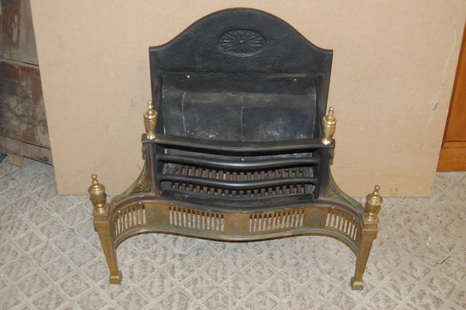FB0022 AN EDWARDIAN ANTIQUE CAST IRON AND BRASS FIRE REGISTER