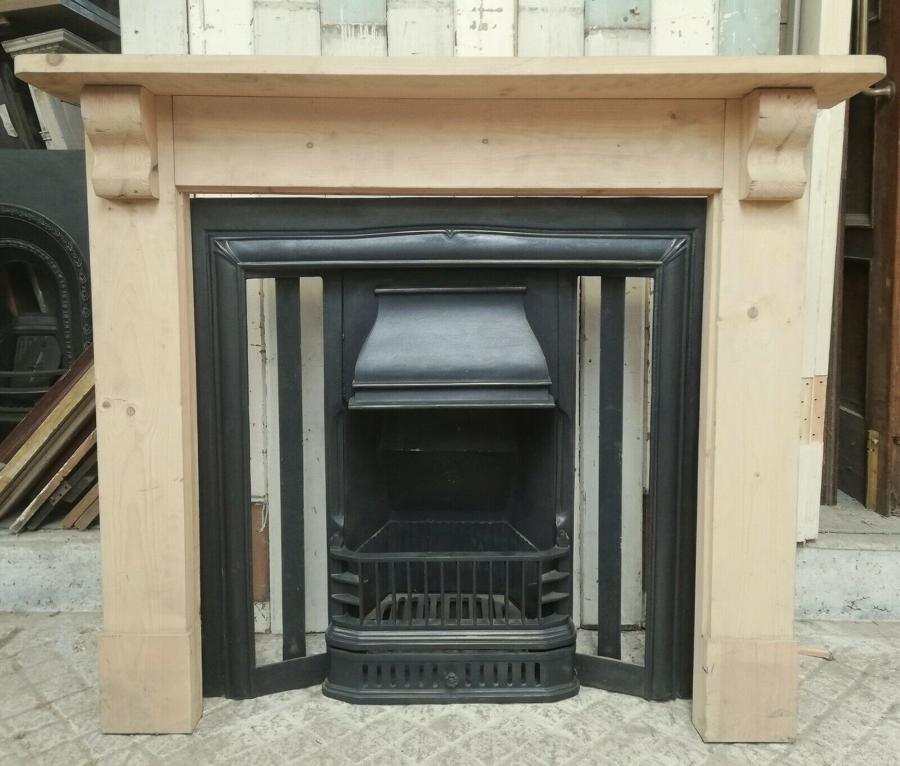 FI0032 A RECLAIMED REPRODUCTION CAST IRON FIRE INSERT READY FOR TILES