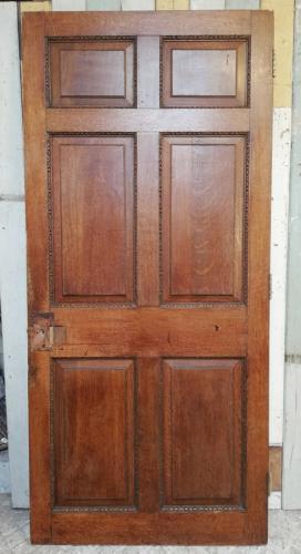 DI0679 A GEORGIAN STYLE VICTORIAN HAND CARVED OAK INTERNAL DOOR