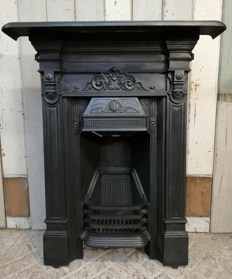 FC0054 ATTRACTIVE VICTORIAN CAST IRON BEDROOM COMBINATION FIRE