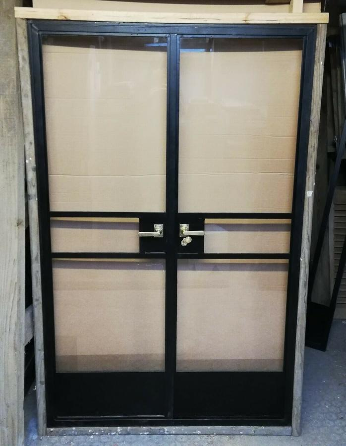 DP0265 PAIR OF FANTASTIC RECLAIMED CRITTALL DOORS FOR INTERIOR USE